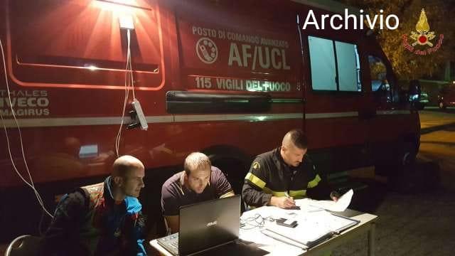 Intervento Vigili del Fuoco di Crotone per persona scomparsa
