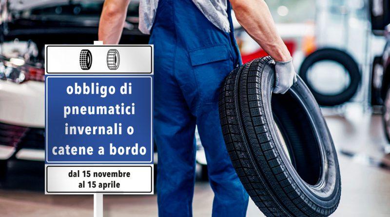 Dal 15 novembre torna l'obbligo di montare pneumatici termici sui veicoli a motore per circolare sulle Strade Provinciali