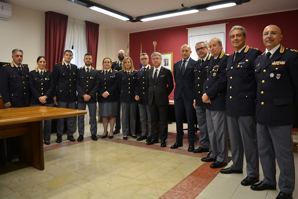Crotone : Insediamento del Questore dr. Marco GIAMBRA